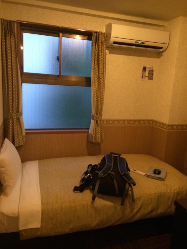 little room at the Oak hostel in Tokyo