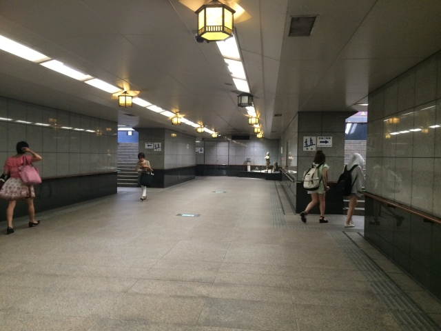 an elaborate underground tunnel to the ferry station
