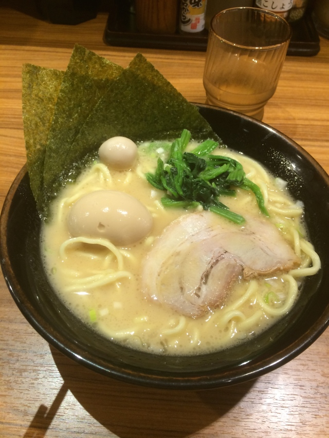 greatest ramen in Tokyo, the noodles were perfect and it comes with seaweed!