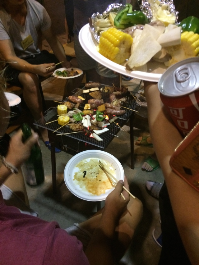 barbeque at the hostel