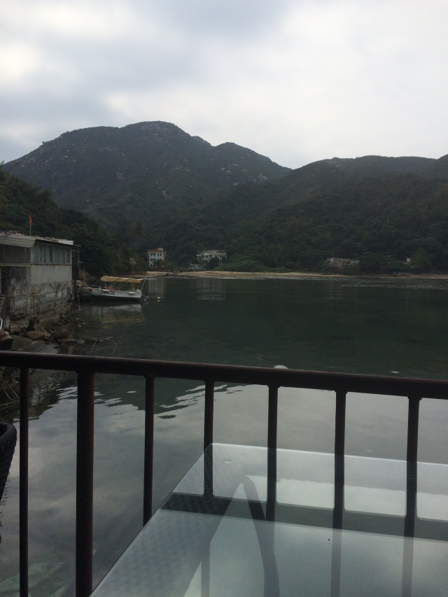 my lunch view on Lamma island