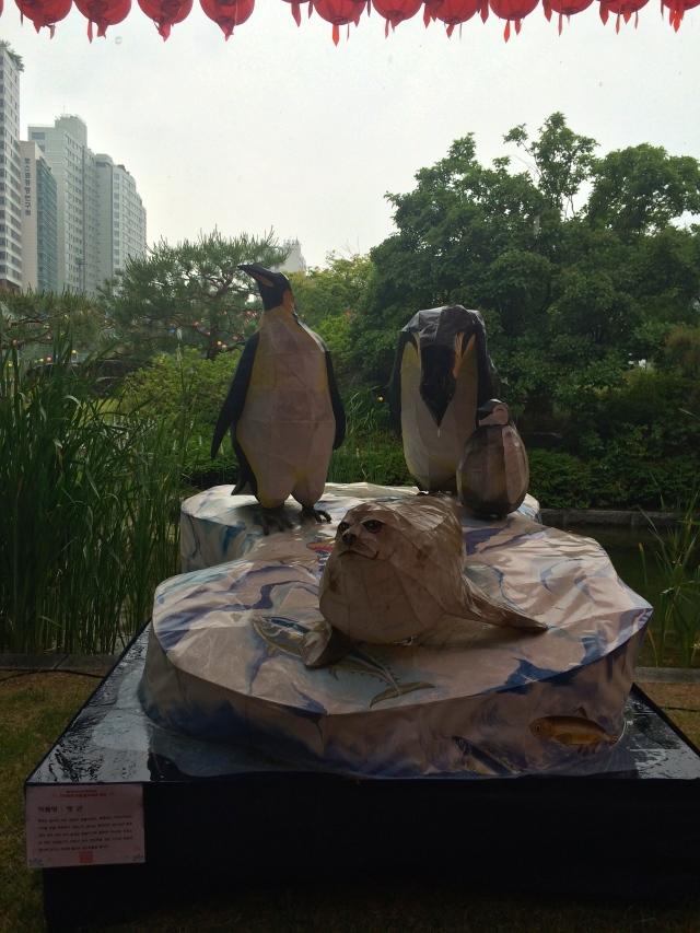 penguin lantern