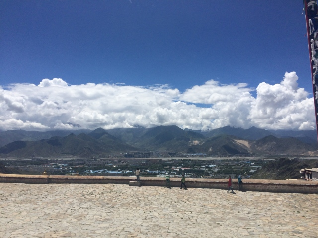 overlooking the city of Lhasa