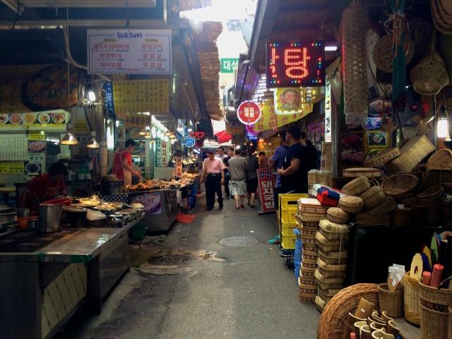 restaurant street in the market