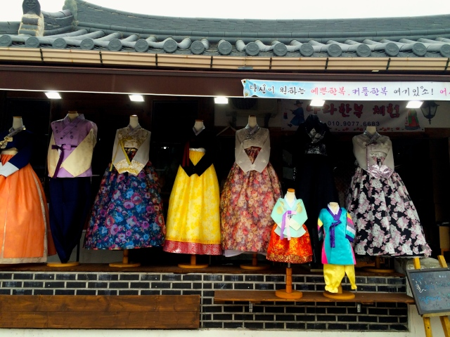 hanboks (traditional Korean clothing) for rent