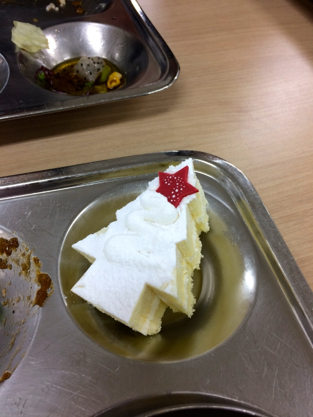 We even had Christmas cake at school for lunch