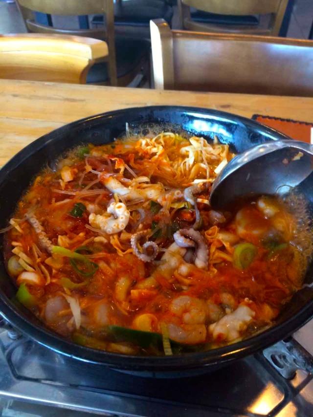 shrimp and octopus stir fry