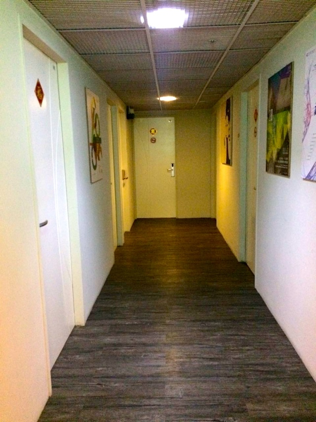 hallway to different rooms